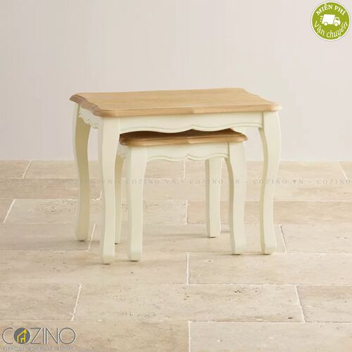 Bộ bàn xếp lồng Skye 100% gỗ sồi Mỹ- đẹp, giá rẻ tại hcm và hà nội