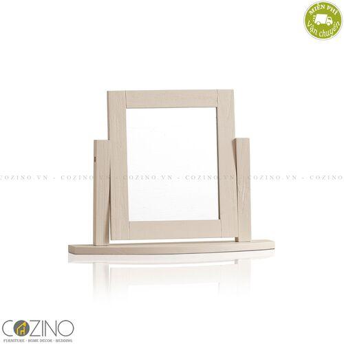 Gương để bàn Sark gỗ sồi Mỹ- đẹp, giá rẻ tại hcm và hà nội