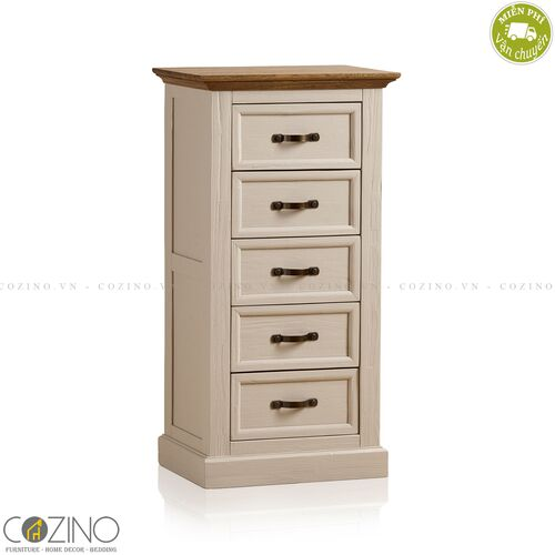 Tủ 5 ngăn kéo 5 tầng Sark gỗ sồi Mỹ- đẹp, giá rẻ tại hcm và hà nội