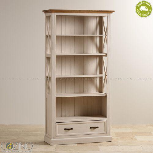 Tủ kệ sách và trưng bày Sark gỗ sồi Mỹ- đẹp, giá rẻ tại hcm và hà nội