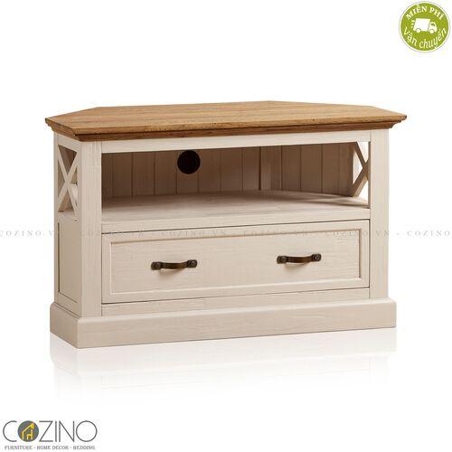 Tủ tivi góc Sark gỗ sồi Mỹ- đẹp, giá rẻ tại hcm và hà nội