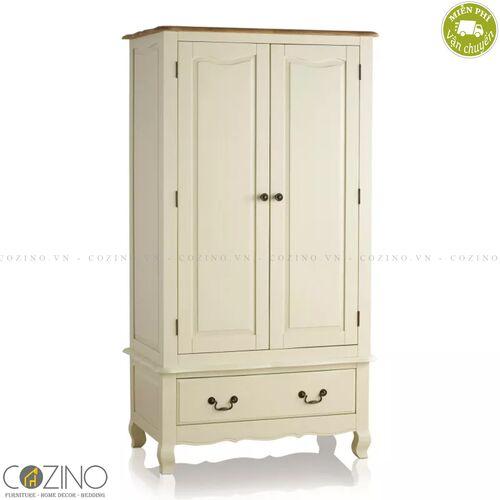 Tủ quần áo Skye 2 cánh 1 ngăn kéo gỗ sồi Mỹ (nhiều kích thước)- đẹp, giá rẻ tại hcm và hà nội