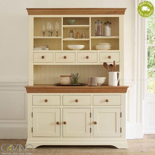 Tủ bếp lớn Canary gỗ sồi Mỹ- đẹp, giá rẻ tại hcm và hà nội