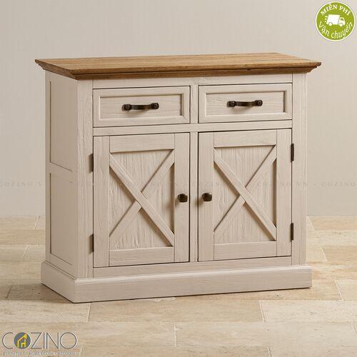Tủ chén Sark loại nhỏ gỗ sồi- đẹp, giá rẻ tại hcm và hà nội
