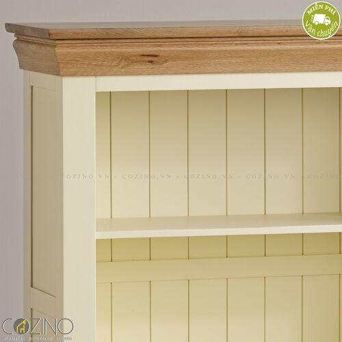 Tủ kệ sách và trưng bày thấp Canary gỗ sồi Mỹ- đẹp, giá rẻ tại hcm và hà nội