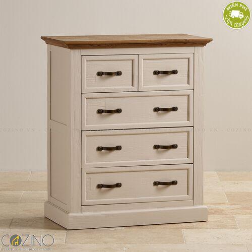 Tủ 5 ngăn kéo 4 tầng Sark gỗ sồi Mỹ- đẹp, giá rẻ tại hcm và hà nội
