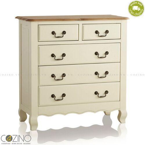 Tủ 5 ngăn kéo 4 tầng Skye gỗ sồi Mỹ- đẹp, giá rẻ tại hcm và hà nội