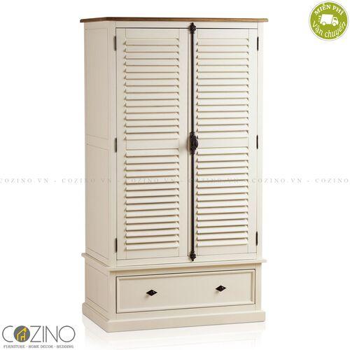 Tủ quần áo Chillon 2 cánh 1 ngăn kéo gỗ sồi Mỹ ( nhiều kích thước)- đẹp, giá rẻ tại hcm và hà nội