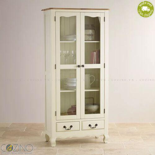 Tủ kệ sách và trưng bày cánh kính Skye gỗ sồi Mỹ- đẹp, giá rẻ tại hcm và hà nội