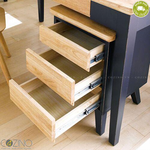 Tủ hồ sơ 3 ngăn kéo Lantana gỗ cao su- đẹp, giá rẻ tại hcm và hà nội