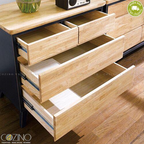 Tủ 4 ngăn kéo Lantana gỗ cao su- đẹp, giá rẻ tại hcm và hà nội