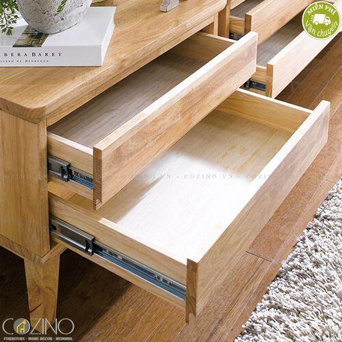 Tủ 2 ngăn kéo IXORA gỗ cao su- đẹp, giá rẻ tại hcm và hà nội