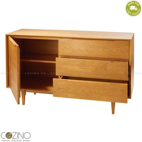 Tủ lưu trữ 1 cánh 3 ngăn  Portobello gỗ tự nhiên- đẹp, giá rẻ tại hcm và hà nội