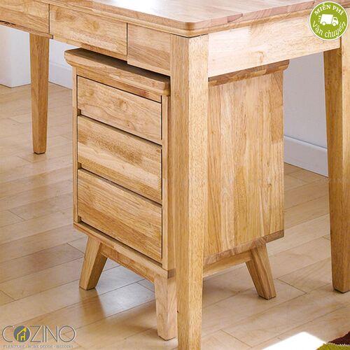 Tủ hồ sơ IXORA 3 ngăn kéo gỗ cao su- đẹp, giá rẻ tại hcm và hà nội