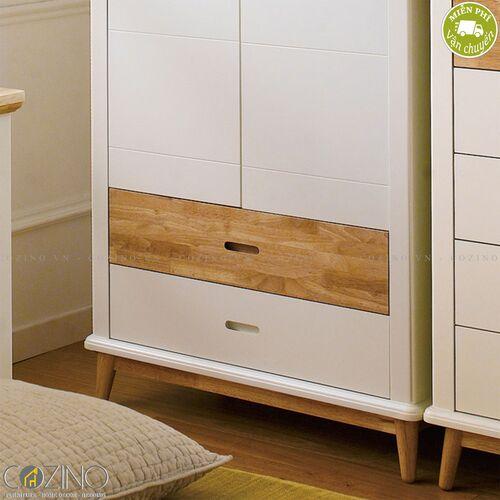Tủ quần áo Canna gỗ cao su- đẹp, giá rẻ tại hcm và hà nội