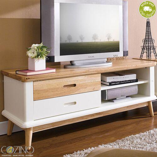 Tủ kệ Tivi nhỏ Canna gỗ cao su- đẹp, giá rẻ tại hcm và hà nội