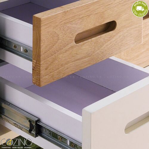 Tủ ngăn kéo Canna 2 hộc gỗ cao su- đẹp, giá rẻ tại hcm và hà nội