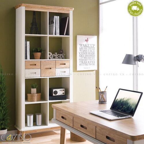 Tủ sách Canna gỗ cao su- đẹp, giá rẻ tại hcm và hà nội