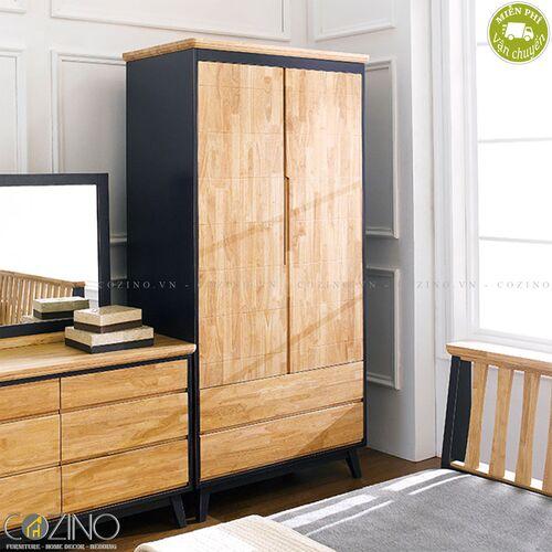 Tủ quần áo Lantana gỗ cao su (nhiều kích thước)- đẹp, giá rẻ tại hcm và hà nội