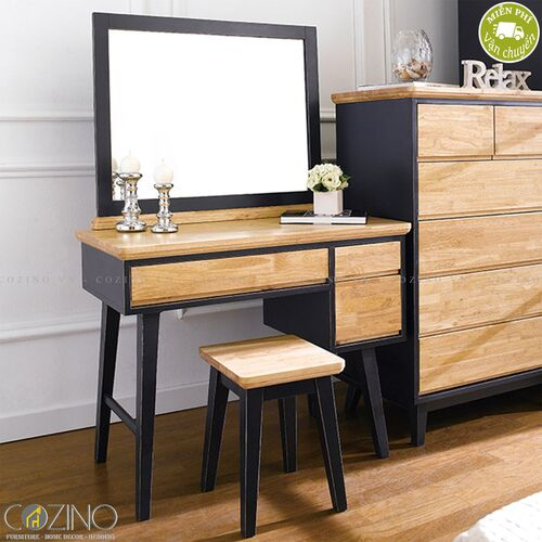 Bộ bàn trang điểm Lantana gỗ cao su- đẹp, giá rẻ tại hcm và hà nội