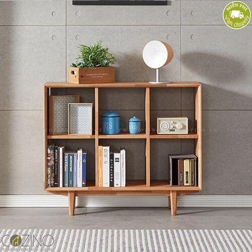 Tủ kệ sách, tủ trưng bày 3x2 ngăn Calla gỗ cao su- đẹp, giá rẻ tại hcm và hà nội