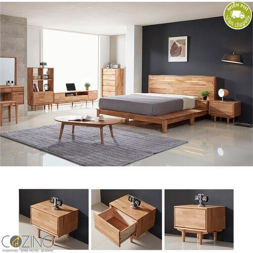 Tủ trưng bày, tủ đầu giường 1 ngăn kéo Calla gỗ cao su- đẹp, giá rẻ tại hcm và hà nội