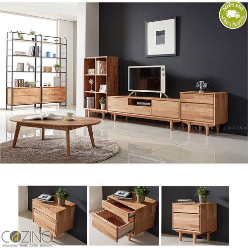 Tủ 2 ngăn kéo Calla gỗ cao su- đẹp, giá rẻ tại hcm và hà nội