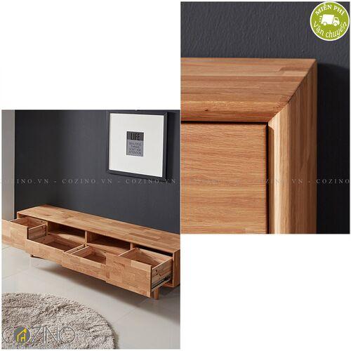 Tủ tivi 4 ngăn kéo 2 hộc Calla B gỗ cao su- đẹp, giá rẻ tại hcm và hà nội