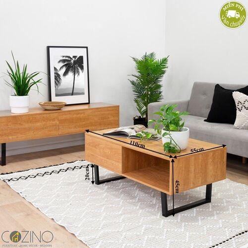Bàn trà / sofa Blake gỗ tự nhiên (khung sắt)- đẹp, giá rẻ tại hcm và hà nội