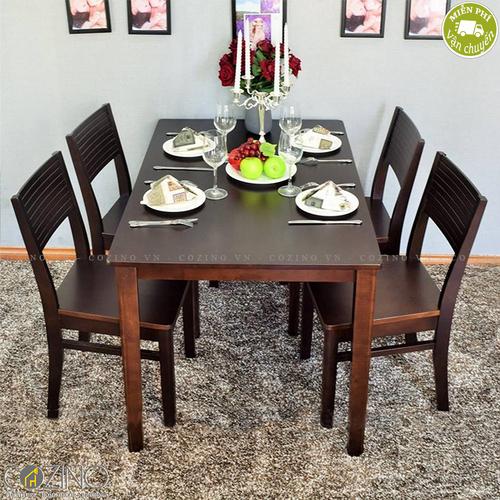 Bộ bàn ăn 6 ghế Cherry gỗ cao su nhiều màu- đẹp, giá rẻ tại hcm và hà nội