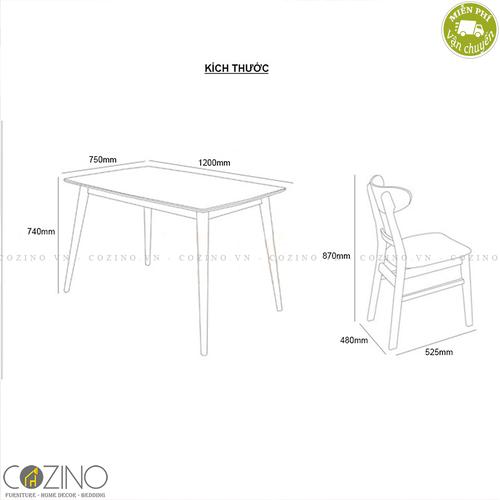 Bộ bàn ghế ăn Mango 4 ghế nhiều màu 1m2- đẹp, giá rẻ tại hcm và hà nội