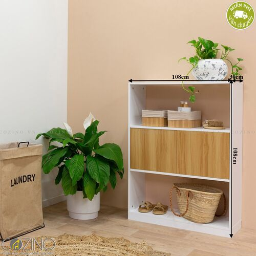 Tủ kệ sách nhỏ Blake gỗ tự nhiên- đẹp, giá rẻ tại hcm và hà nội