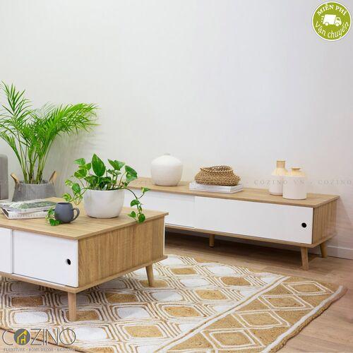 Tủ trang trí Blake gỗ tự nhiên màu trắng- đẹp, giá rẻ tại hcm và hà nội