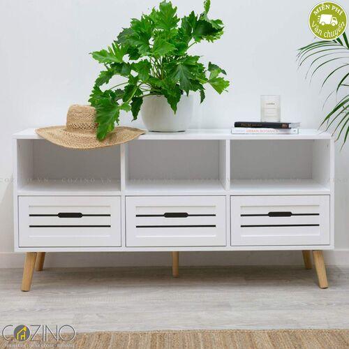 Tủ trang trí Mari gỗ cao su- đẹp, giá rẻ tại hcm và hà nội