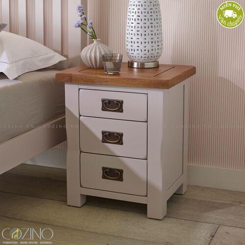 Tủ đầu giường Sintra 3 ngăn gỗ sồi Mỹ- đẹp, giá rẻ tại hcm và hà nội