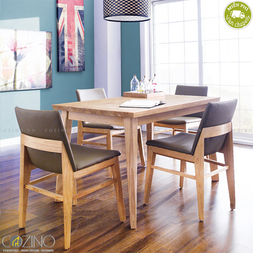 Bộ bàn ăn 4 ghế Kudo nhiều màu 1m2- đẹp, giá rẻ tại hcm và hà nội