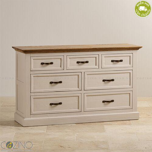 Tủ 7 ngăn kéo 3 tầng Sark gỗ sồi Mỹ- đẹp, giá rẻ tại hcm và hà nội