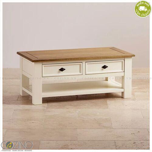 Bàn sofa Chillon gỗ sồi Mỹ- đẹp, giá rẻ tại hcm và hà nội