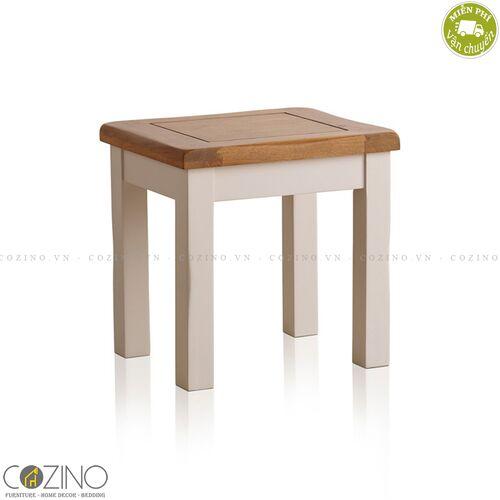 Ghế đôn bàn trang điểm Sintra 100% gỗ sồi Mỹ- đẹp, giá rẻ tại hcm và hà nội