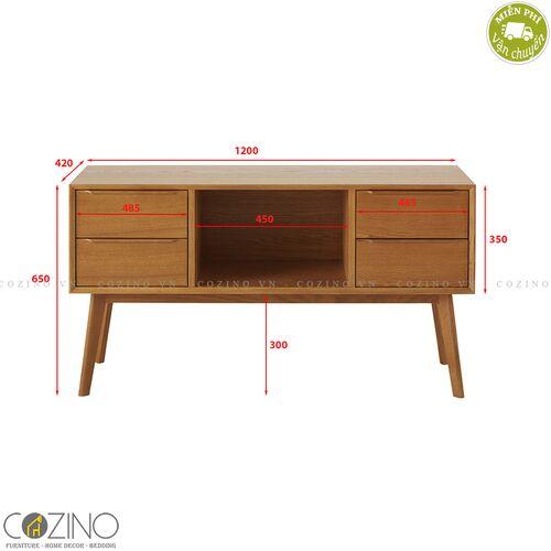 Tủ lưu trữ 4 ngăn 1 hộc Portobello gỗ tự nhiên- đẹp, giá rẻ tại hcm và hà nội