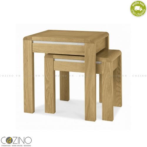 Bộ bàn xếp lồng Chain gỗ sồi Mỹ- đẹp, giá rẻ tại hcm và hà nội