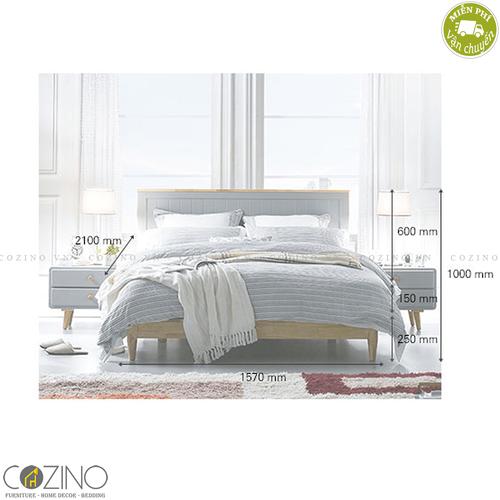 Giường ngủ Camelia (gỗ cao su nhiều kích thước)- đẹp, giá rẻ tại hcm và hà nội
