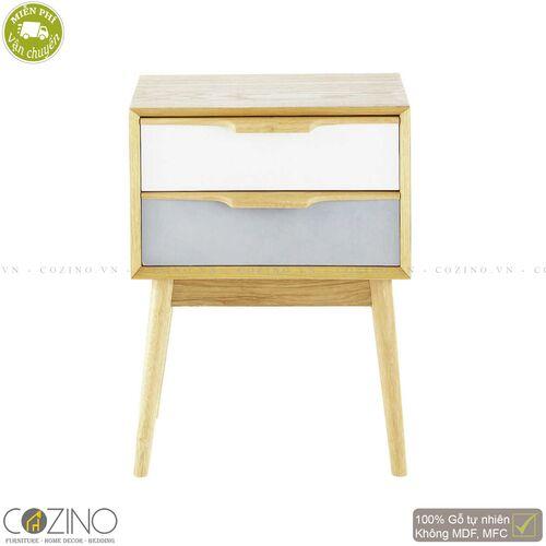 Tủ đầu giường 2 ngăn kéo SENJA gỗ tự nhiên- đẹp, giá rẻ tại hcm và hà nội
