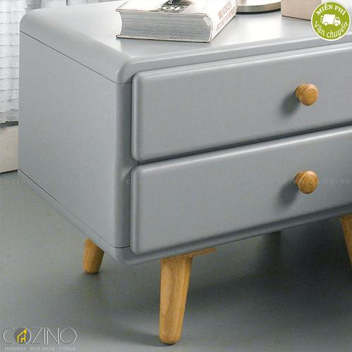 Tủ ngăn kéo Camelia 2 hộc gỗ cao su- đẹp, giá rẻ tại hcm và hà nội