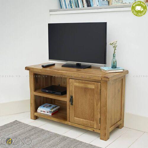 Tủ tivi Original Rustic nhỏ 1m gỗ sồi Mỹ- đẹp, giá rẻ tại hcm và hà nội