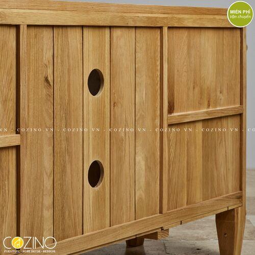 Tủ tivi 2 cánh Holy gỗ sồi Mỹ- đẹp, giá rẻ tại hcm và hà nội