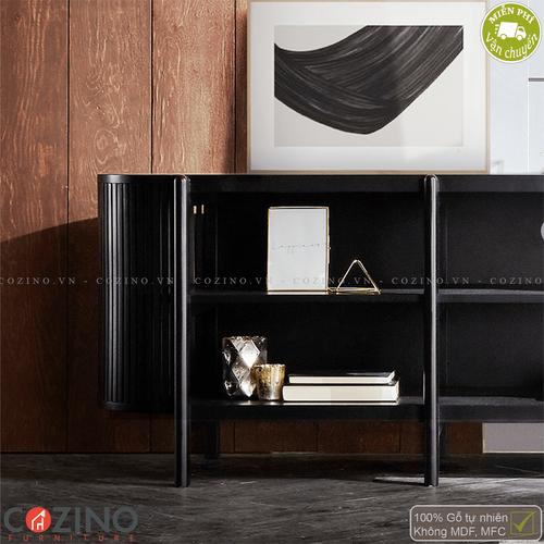 Tủ trưng bày, tủ tivi Flavio - Màu đen- đẹp, giá rẻ tại hcm và hà nội