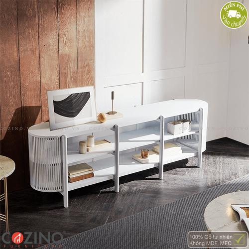 Tủ trưng bày, tủ tivi Flavio - Màu trắng- đẹp, giá rẻ tại hcm và hà nội