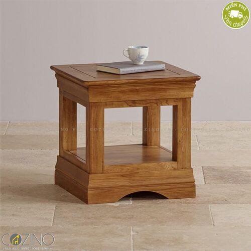 Bàn đặt góc, kệ đầu giường French Farmhouse gỗ sồi Mỹ- đẹp, giá rẻ tại hcm và hà nội
