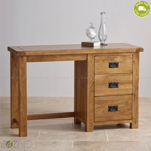 Bàn làm việc Original Rustic 3 ngăn gỗ sồi Mỹ- đẹp, giá rẻ tại hcm và hà nội